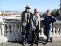 Francesco Cefalo, Enrico Luciani e la prof. Paola Presentini al panorama di Roma davanti al Fontanone
