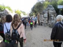 Si esce per andare a Porta San Pancrazio, visibile sullo sfondo