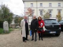 Enrico Luciani, Massimo Capoccetti e Daniela Donghia attendono le classi a Villa Pamphili
