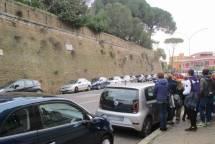 Una chiara immagine del sesto bastione: da lì le mura proseguono per terminare a Porta Portese