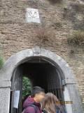L'ingresso della Villa: in alto si può vedere lo stemma che ricorda Urbano VIII e la famiglia Barberini (le tre api)