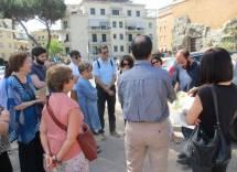 Roberto Calabria ricorda la non Italia del 1849. Al centro, un'ascoltatrice di riguardo: la prof.ssa Anna Maria Isastia della Sapienza
