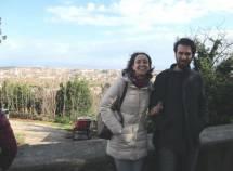 Claudio Mancini e la prof.ssa Matilde Sarti con alle spalle lo splendido panorama di Roma