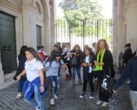 Dopo la visita del Museo della Repubblica romana Noemi Grimaldi saluta tutti