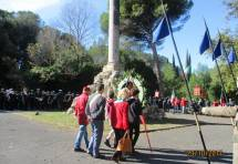 Villa Glori: a Piazza del Mandorlo parte la cerimonia con in testa le associazioni garibaldine