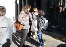 La prof.ssa Claudia Sotgiu al Museo dialoga con l'educatrice Irene Ciocca