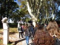 Le classi hanno modo di visitare i busti del Parco Gianicolense
