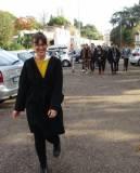 Arrivano a Villa Pamphili i liceali di S. Orsola: in testa la prof.ssa Francesca Giglio