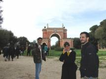 All'arco dei Quattro Venti il prof. Pietro Mecciaro con la prof. Francesca Giglio