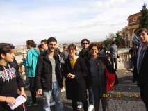 I proff. Giglio e Mecciaro con la nostra Giovanna De Luca. Con loro i giovani (da sinistra a destra) Davide Lombardi, Adriano Aureli, Andrea Balladelli