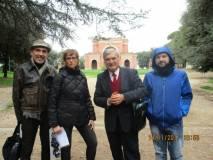 Da sinistra l'architetto Francesco Cefalo, la prof.ssa Paola Presentini, Enrico Luciani , l'assistente Alessandro Sacchetti