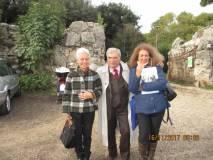 Enrico Luciani con la prof.ssa Stefania Panichelli e la nostra guida Noemi Grimaldi