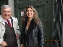 Enrico Luciani con la dr. Mara Minasi, direttrice del Museo.