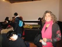 La dr.ssa Mara Minasi, responsabile del Museo, saluta le classi dell'IC Settembrini. Grazie