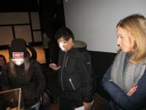 Il plastico del 30 aprile nella sala dell'Assedio: in primo piano la prof.ssa Sara Cherubini