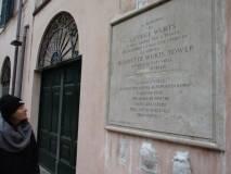 A Casale Barberini il racconto dei combattimenti al sesto bastione. Si legge la lapide per il dono della Villa al popolo di Roma da parte della vedova Henriette Wurts Tower