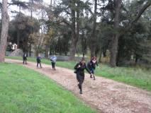 Per arrivare in tempo la III D, da via Nocetta, arriva dal bosco… Brave queste professoresse!