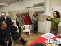 Elena Maria D'Effremo spiega il lavoro sulla mobilità e mostra la mappa per il rilevamento