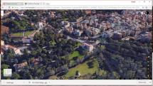 Google da Porta San Pancrazio all'ingresso di Villa Pamphilj - Largo 3 giugno 1849 – in basso Via delle Fornaci
