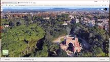 Google dall'alto l'Arco dei Quattro Venti e il viale glorioso; sullo sfondo Porta San Pancrazio