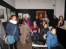 Al Museo si ascolta il racconto di Ciceruacchio: sulla sinistra Marina Ajello