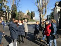 Da via Masina (antiche mura aureliane) si arriva a Villa Spada: la difesa dei bersaglieri lombardi
