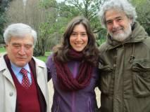 """Enrico Luciani saluta Francesco e Laura e gli """"Amici di Villa Sciarra"""" presenti"""