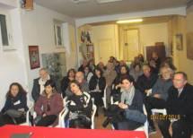 La sala è pronta: in prima fila le insegnanti premiande e Giuseppe Garibaldi, pronipote dell'Eroe
