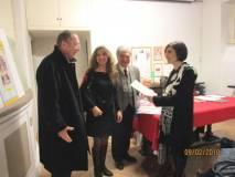 La premiazione della prof.ssa Chiara Tiscia per la III P dell'IC Montezemolo plesso Tre Fontane