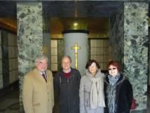 Oggi apertura della cripta: Enrico Luciani con Massimo Capoccetti, Giovanna De Luca, Stefania Cassia