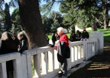 Memmo Schiavella, appassionato del Risorgimento, tifoso del Cipriani Comitato gianicolo, assiste commosso alla cerimonia