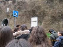 Si arriva all'ingresso di Villa Sciarra: il pannello delle BRECCE