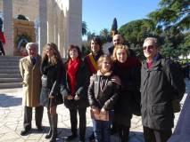 In foto con Enrico Luciani, Massimo Capoccetti, Stefano Marin e Stefano Tozzi, anche Mara Minasi e Anita Garibaldi con il nipotino Giuseppe Garibaldi e la sua mamma