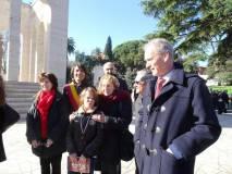 La famigli di Anita, tre generazioni di Garibaldi: in primo piano Francesco e al centro la sua mamma Anita con il nipotino Giuseppe Garibaldi