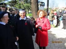 Con le crocerossine la prof. Gisella Bellantone animatrice di Mille donne per l'Italia