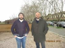 Stefano Tozzi consigliere Municipio Roma I, perplesso, parla con il nostro Marco Valerio Solia
