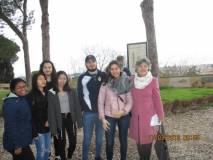 Puntuali anche le ragazze della Prof.ssa Valentina Marani dell'I.I.S Via dei Papareschi (ex scuola Colomba Antonietti)