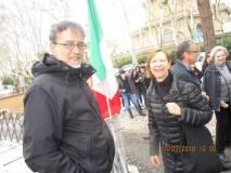 Il Dr Alessandro Cremona dialoga con Alessandra Mancini della Direzione del Cerimoniale Comunale