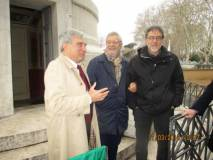 Enrico Luciani saluta l'arrivo del dr. Gildo De Angelis, Direttore USR Lazio