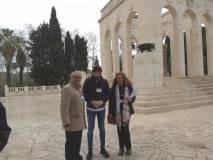In foto Roberto Cerulli, Marco Valerio Solìa, Noemi Grimaldi, guide al Mausoleo dal mattino insieme a Emanuela Mariani e Agostino Bistarelli. BRAVI