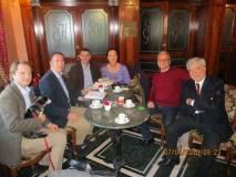 Martin Betz e Cristina Ricci al centro nella foto, con Costante e Giuseppe Garibaldi, sulla sinistra, assistiti da Massimo Capoccetti e Luciani Enrico