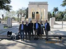 Dopo Villa Spada, estrema difesa dei bersaglieri lombardi, visita al Mausoleo Ossario ai CADUTI DI ROMA 1849-1870