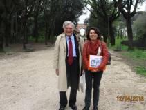 Enrico Luciani e la prof.ssa Cinzia Suriani