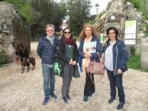 Da sinistra il prof. Saverio Attrotto, Mariapaola Pietracci Mirabelli, Noemi Grimaldi, la  prof. Roberta Servi