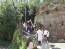 Sulla strada di ritorno: ma prima ascolteranno la lezione di Massimo Capoccetti al Belvedere della Costituzione del 1849