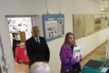 Arriva da Anzio, con la gentile signora, Patrizio Colantonio, dell'Associazione Sbarco di Anzio