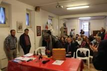 Arriva Alberto Angiolini con i suoi incredibili soldatini; li espone sul tavolo