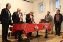I relatori al loro posto assistiti da Roberto Calabria