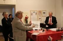 L'intervento di Giovanni Cipriani, che ringrazia vivamente la nostra associazione Cipriani per la bella serata