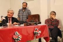 Enrico Luciani, Roberto Calabria e Agostino Bistarelli seguono con attenzione gli interventi del pubblico